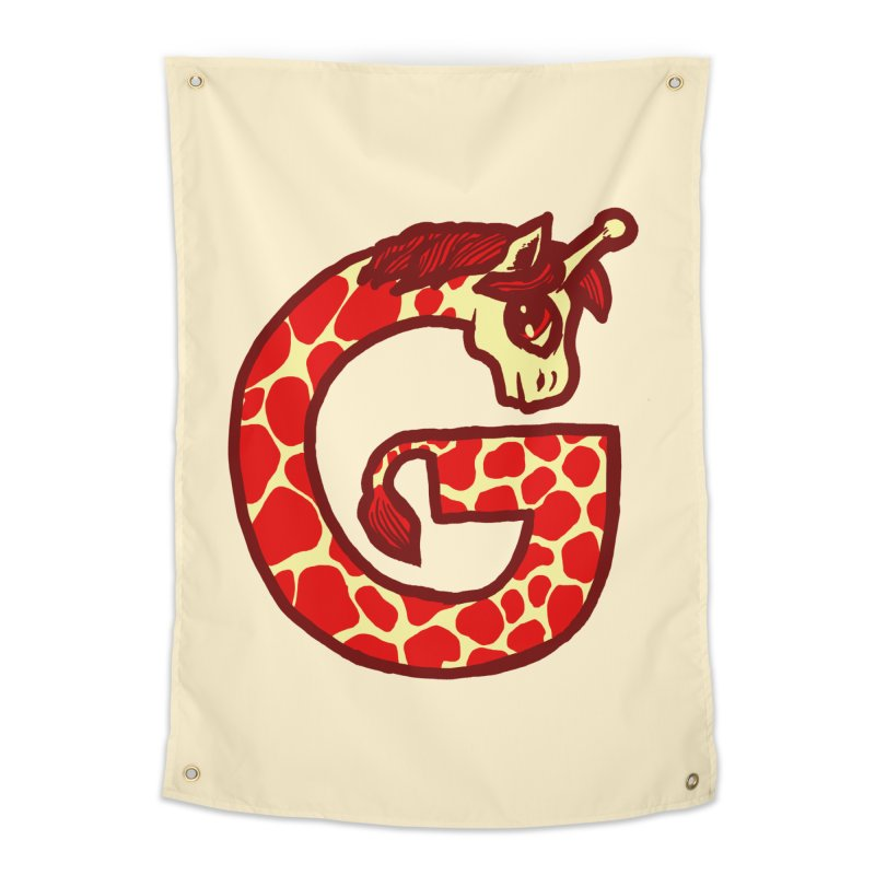 G is for Giraffe Home Tapestry by Jonah Makes Art