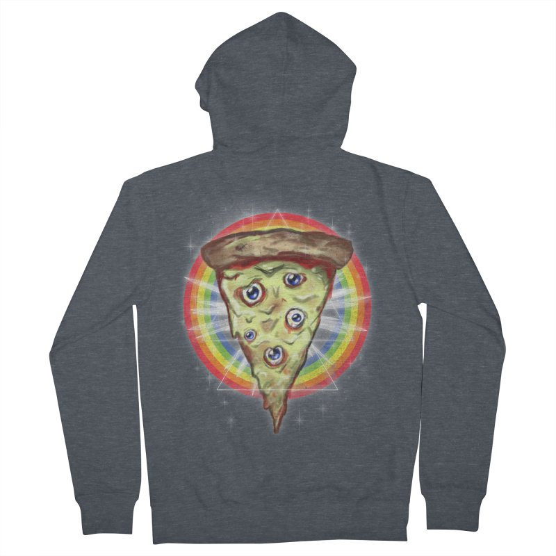 Psychedelic Slice  Women's Zip-Up Hoody by Jonah Makes Art