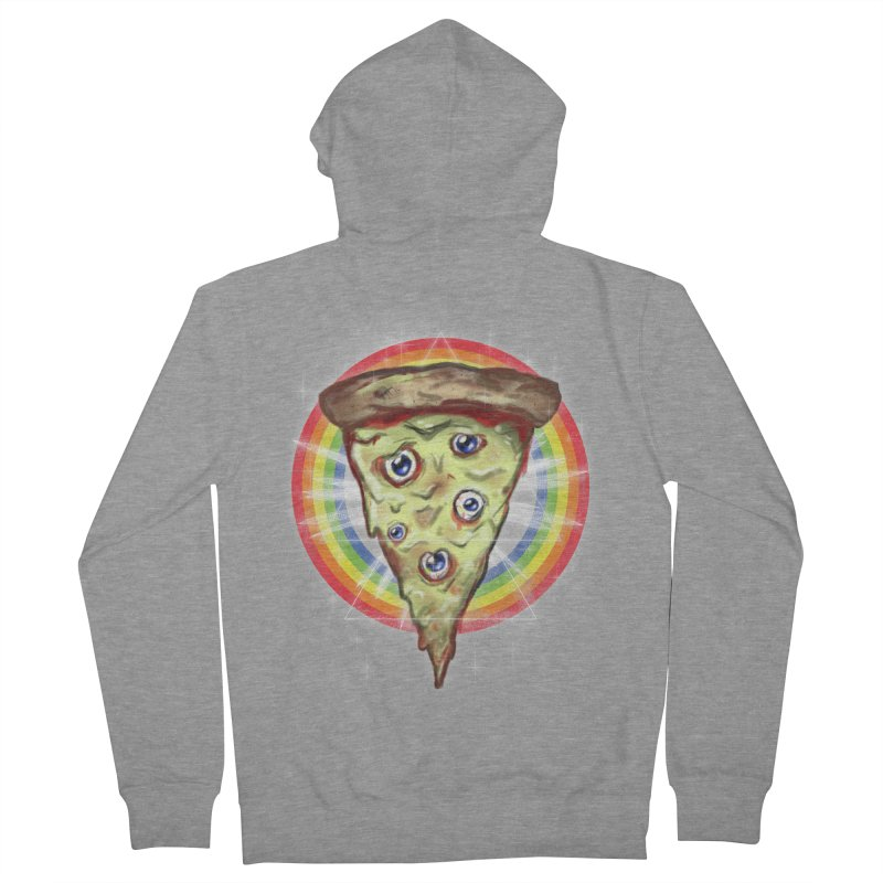 Psychedelic Slice  Men's Zip-Up Hoody by Jonah Makes Art