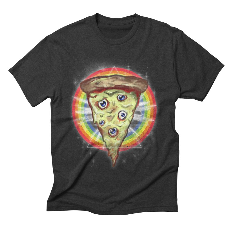 Psychedelic Slice  Men's Triblend T-Shirt by Jonah Makes Art