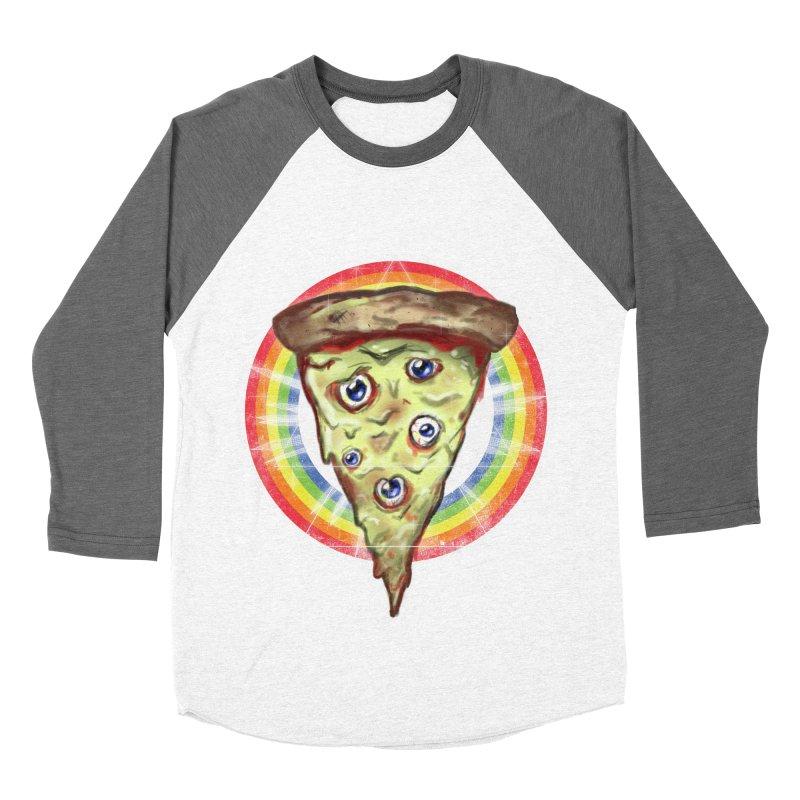 Psychedelic Slice  Men's Baseball Triblend T-Shirt by Jonah Makes Art