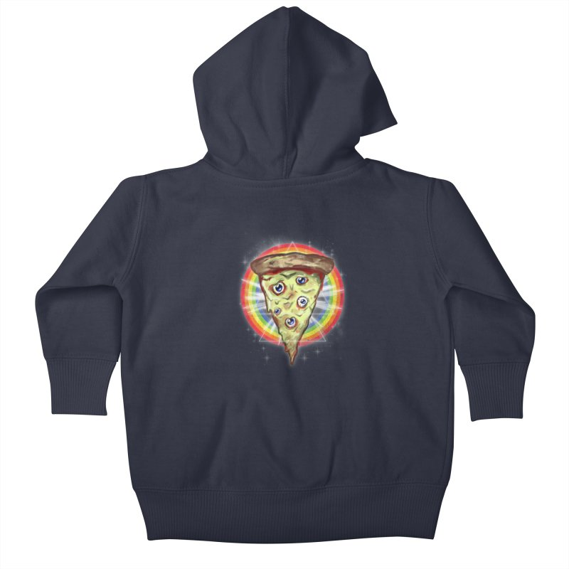Psychedelic Slice  Kids Baby Zip-Up Hoody by Jonah Makes Art