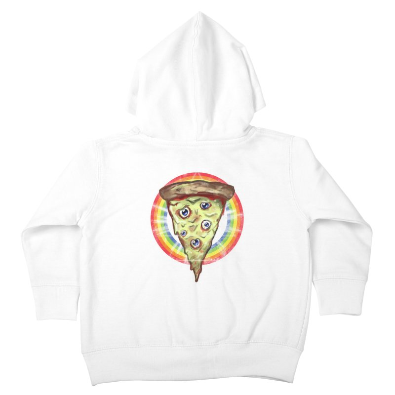 Psychedelic Slice  Kids Toddler Zip-Up Hoody by Jonah Makes Art