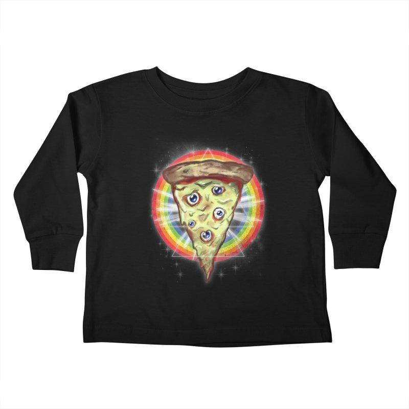 Psychedelic Slice  Kids Toddler Longsleeve T-Shirt by Jonah Makes Art