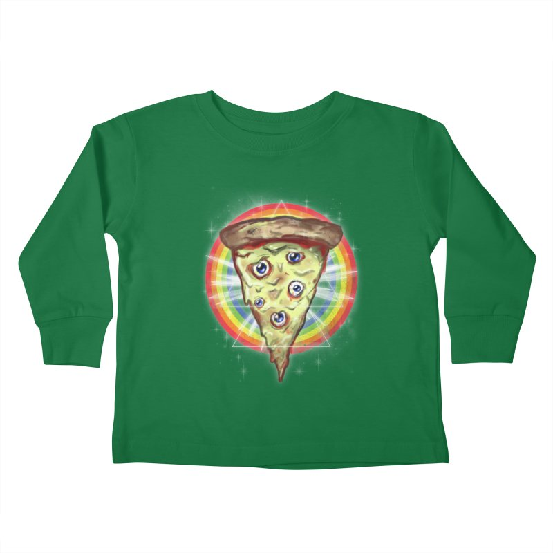 Psychedelic Slice  Kids Toddler Longsleeve T-Shirt by Jonah Makes Art