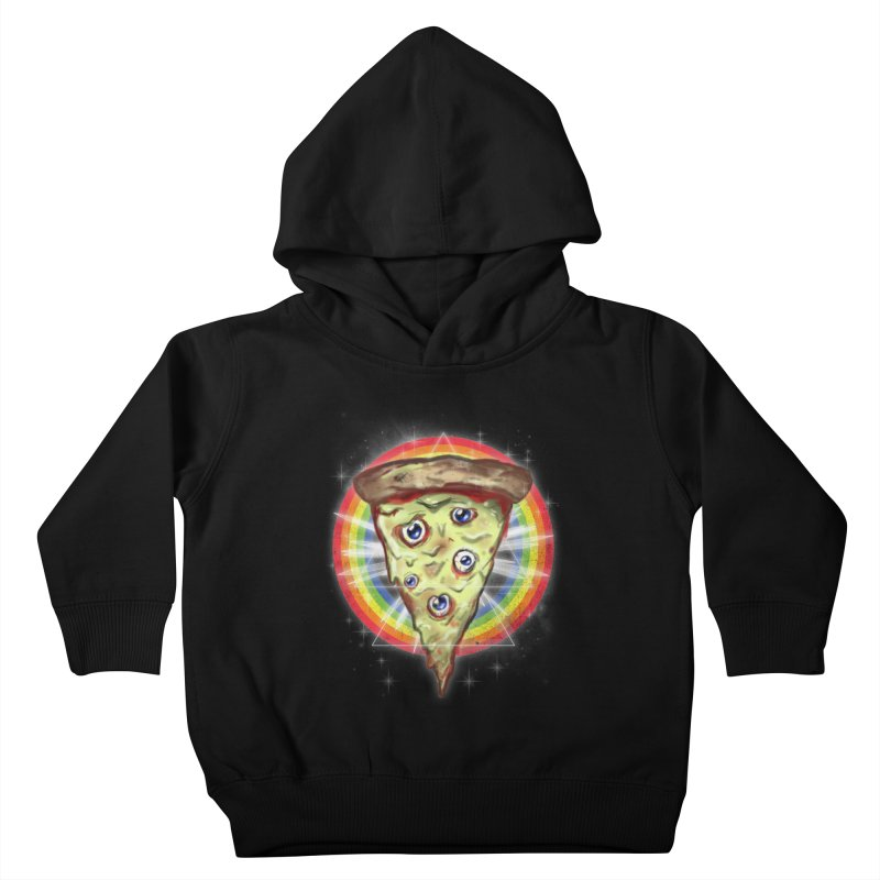 Psychedelic Slice  Kids Toddler Pullover Hoody by Jonah Makes Art