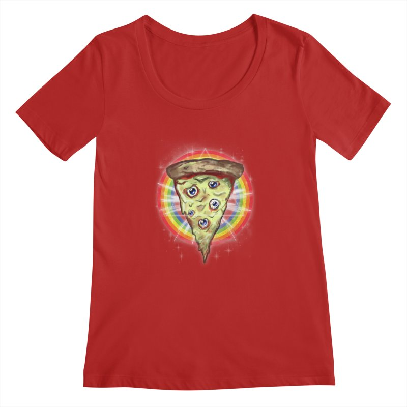 Psychedelic Slice  Women's Scoopneck by Jonah Makes Art