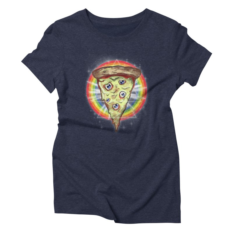 Psychedelic Slice  Women's Triblend T-shirt by Jonah Makes Art