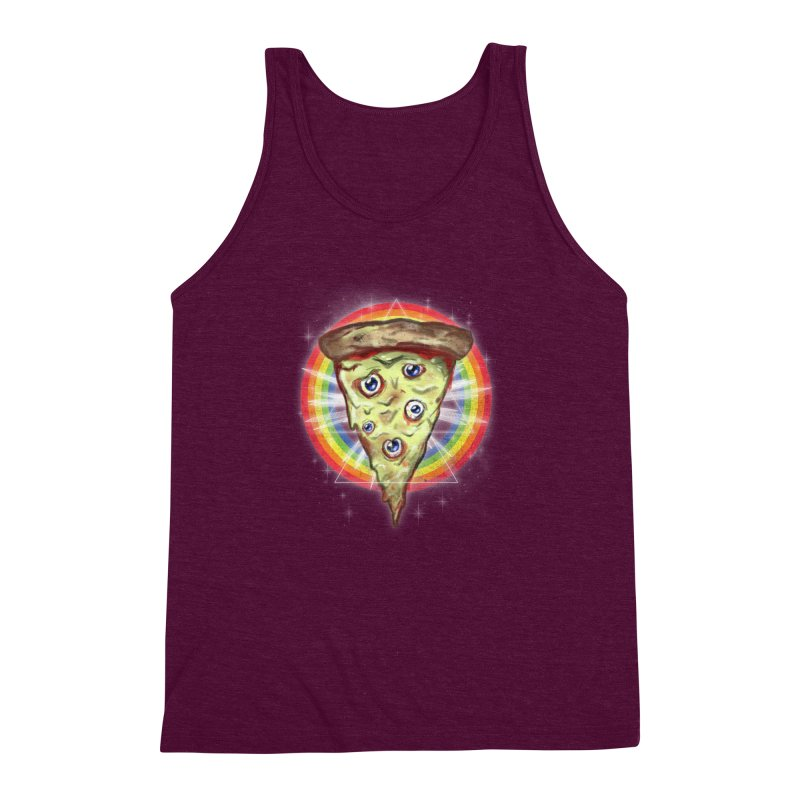 Psychedelic Slice  Men's Triblend Tank by Jonah Makes Art