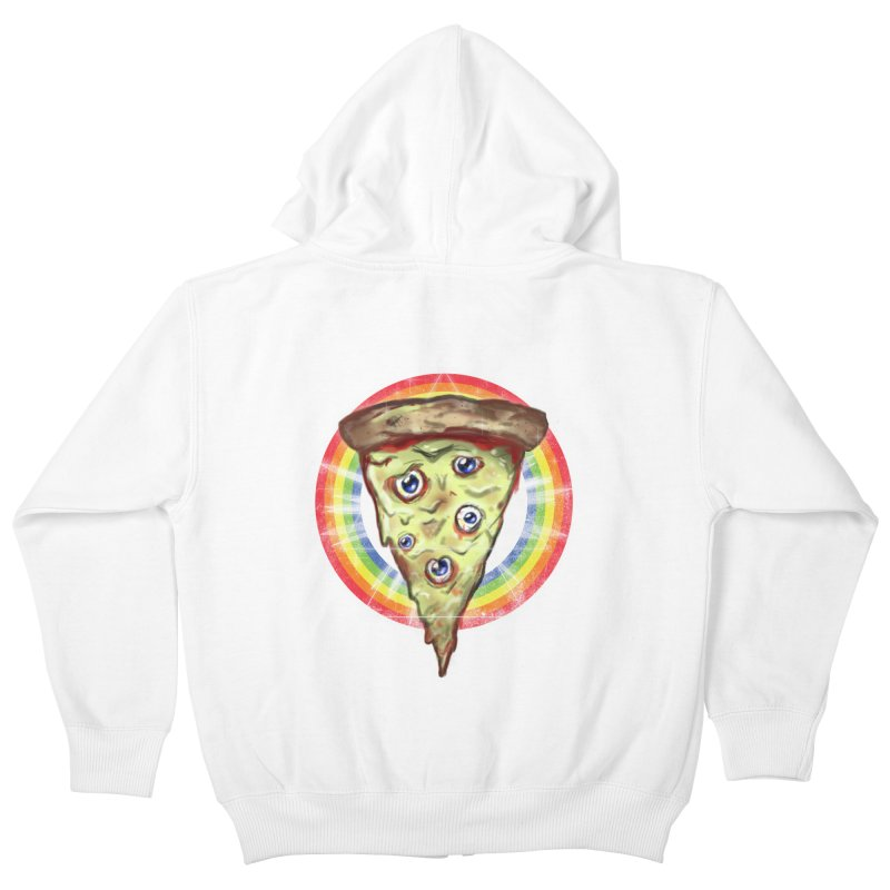 Psychedelic Slice  Kids Zip-Up Hoody by Jonah Makes Art