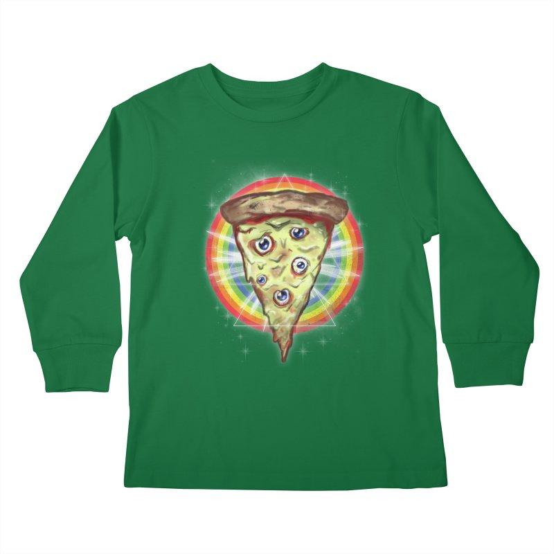 Psychedelic Slice  Kids Longsleeve T-Shirt by Jonah Makes Art
