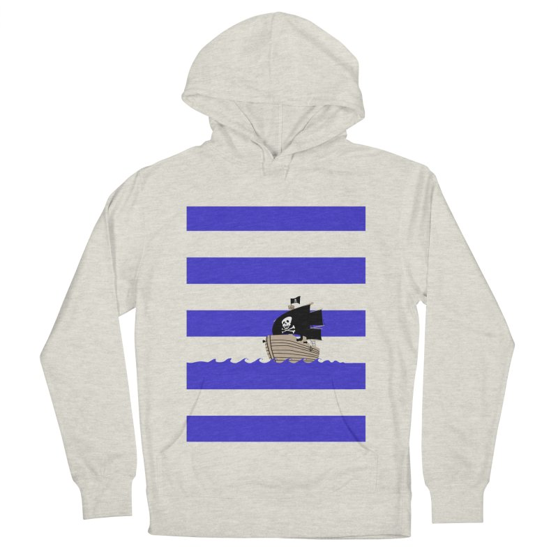 Striped pirate shirt Men's Pullover Hoody by Jonah Makes Art