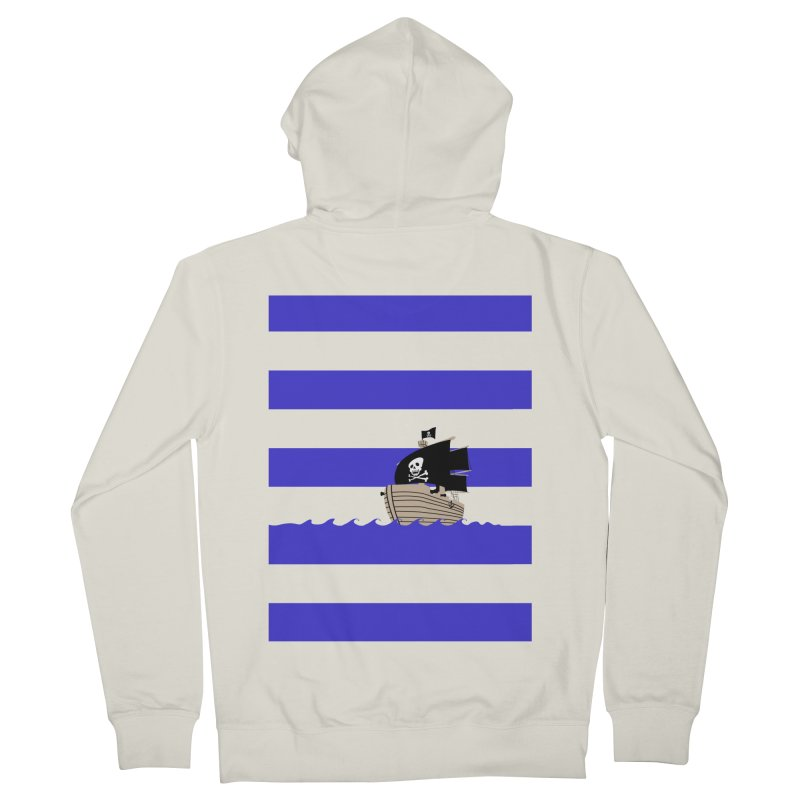 Striped pirate shirt Women's Zip-Up Hoody by Jonah Makes Art