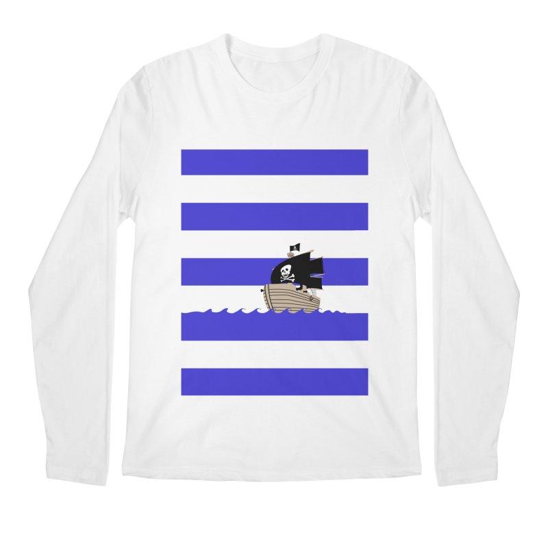 Striped pirate shirt Men's Longsleeve T-Shirt by Jonah Makes Art