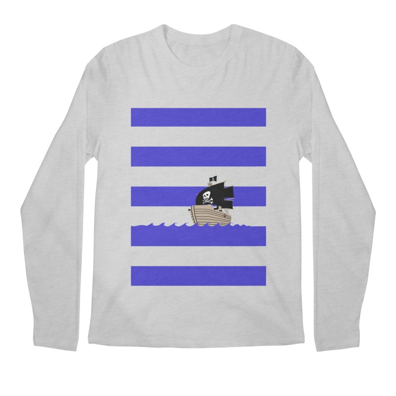 Striped pirate shirt Men's Longsleeve T-Shirt by Jonah Makes Art