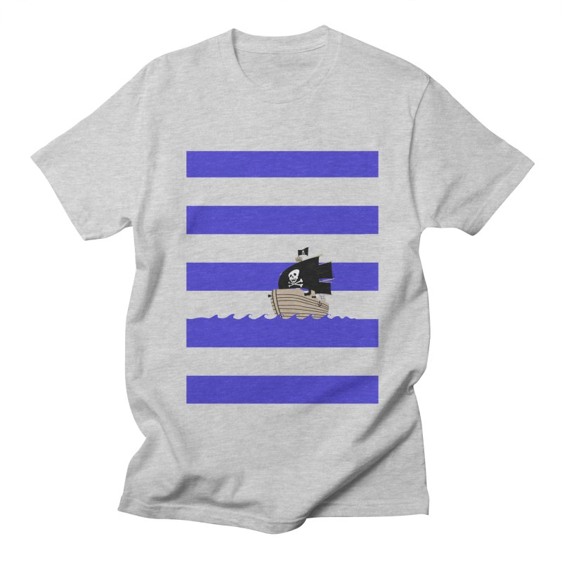 Striped pirate shirt Men's T-Shirt by Jonah Makes Art