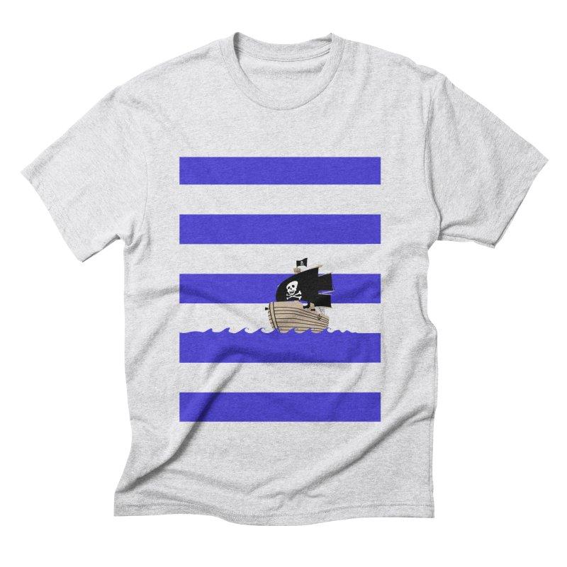 Striped pirate shirt Men's Triblend T-shirt by Jonah Makes Art