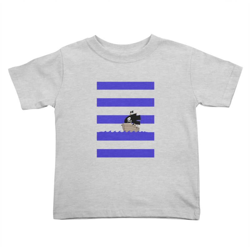 Striped pirate shirt Kids Toddler T-Shirt by Jonah Makes Art