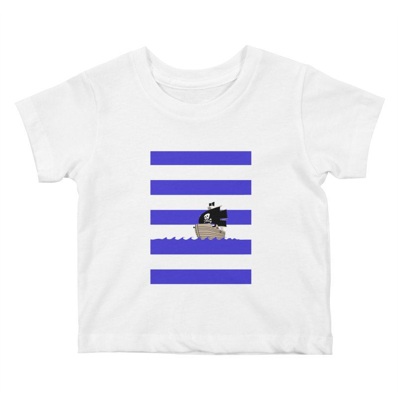 Striped pirate shirt Kids Baby T-Shirt by Jonah Makes Art