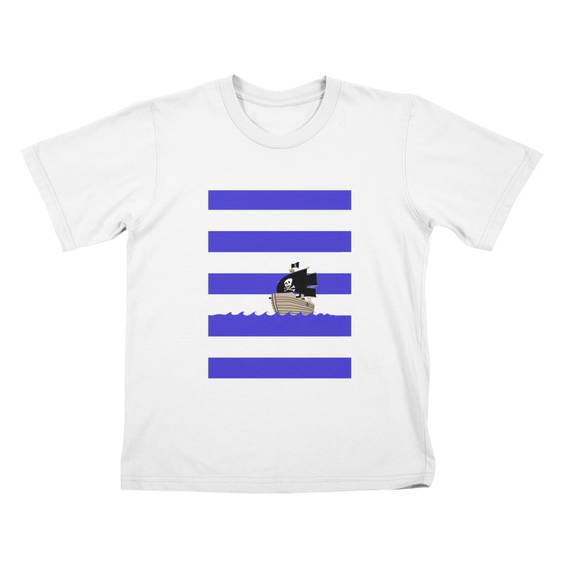 Striped Pirate Shirt Kids T-Shirt by Jonah Makes Art