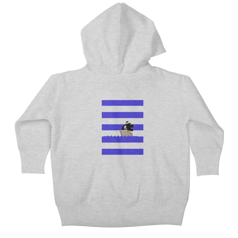 Striped pirate shirt Kids Baby Zip-Up Hoody by Jonah Makes Art