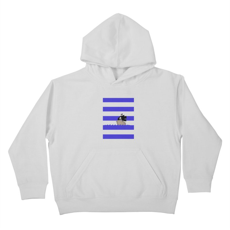 Striped pirate shirt Kids Pullover Hoody by Jonah Makes Art