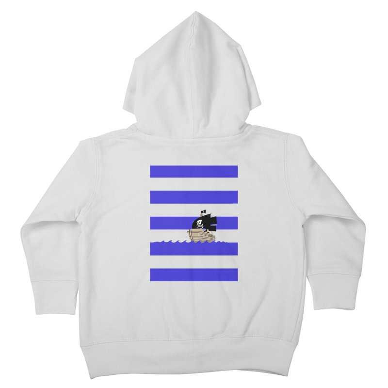 Striped pirate shirt Kids Toddler Zip-Up Hoody by Jonah Makes Art