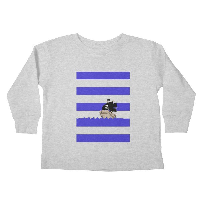 Striped pirate shirt Kids Toddler Longsleeve T-Shirt by Jonah Makes Art