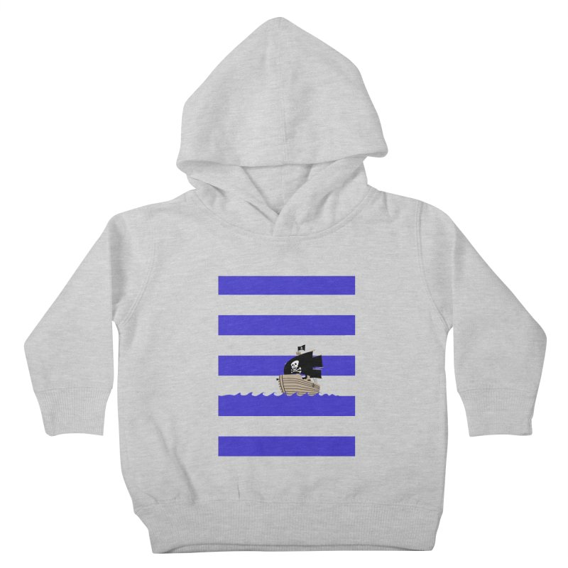 Striped pirate shirt Kids Toddler Pullover Hoody by Jonah Makes Art