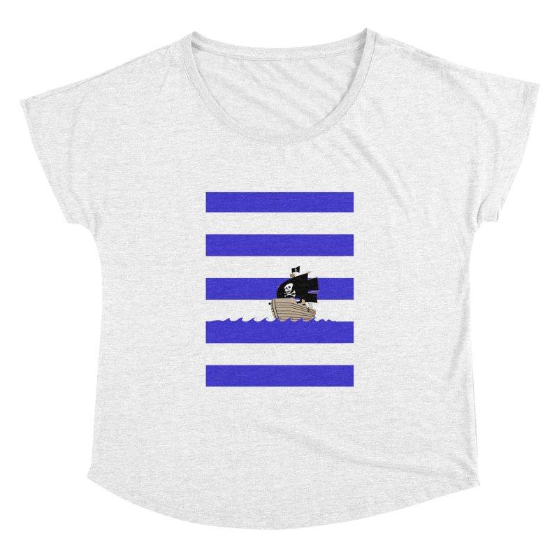 Striped pirate shirt Women's Dolman by Jonah Makes Art
