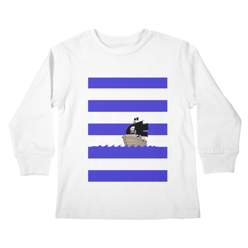Striped pirate shirt Kids Longsleeve T-Shirt by Jonah Makes Art
