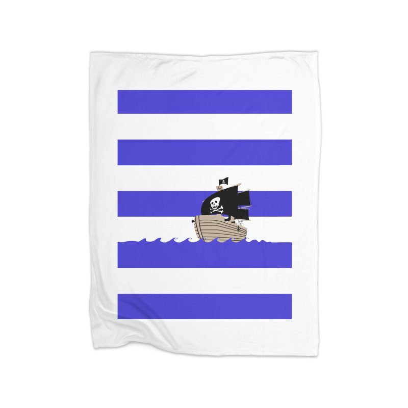 Striped pirate shirt Home Blanket by Jonah Makes Art