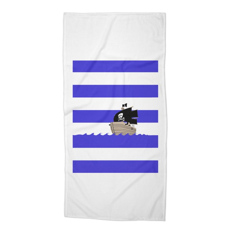 Striped pirate shirt Accessories Beach Towel by Jonah Makes Art