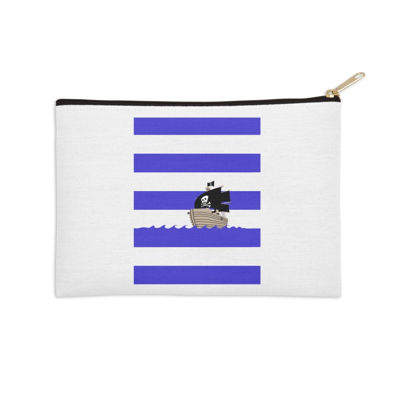 Striped pirate shirt Accessories Zip Pouch by Jonah Makes Art