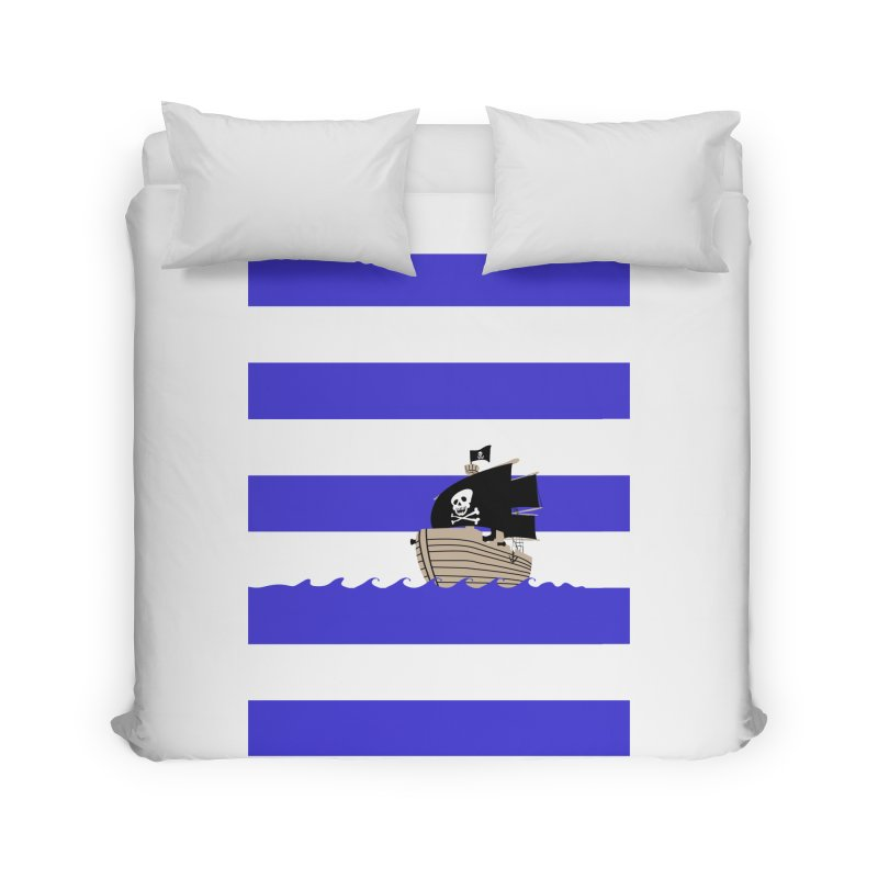 Striped pirate shirt Home Duvet by Jonah Makes Art