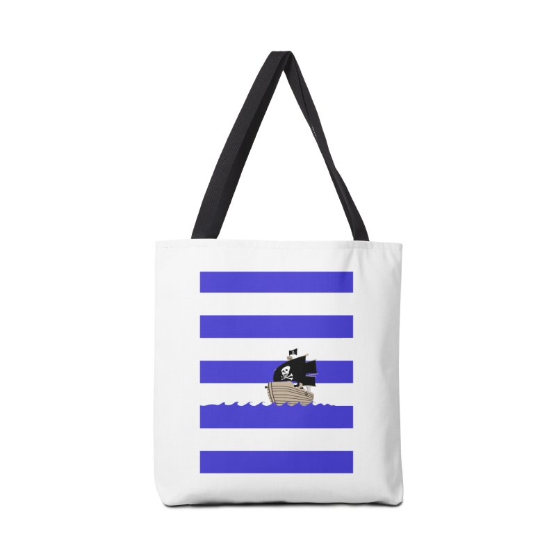 Striped pirate shirt Accessories Bag by Jonah Makes Art