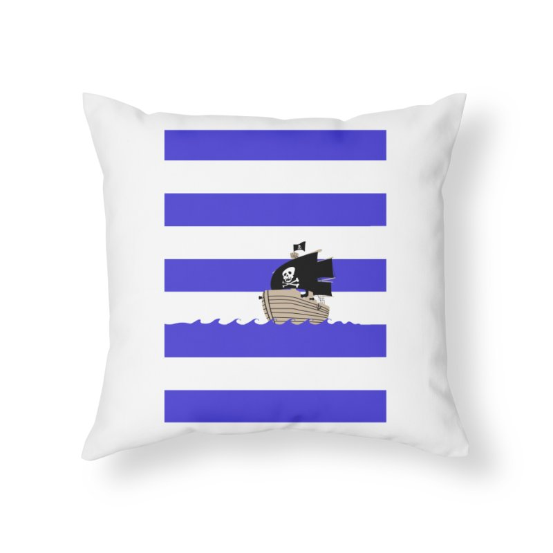 Striped pirate shirt Home Throw Pillow by Jonah Makes Art