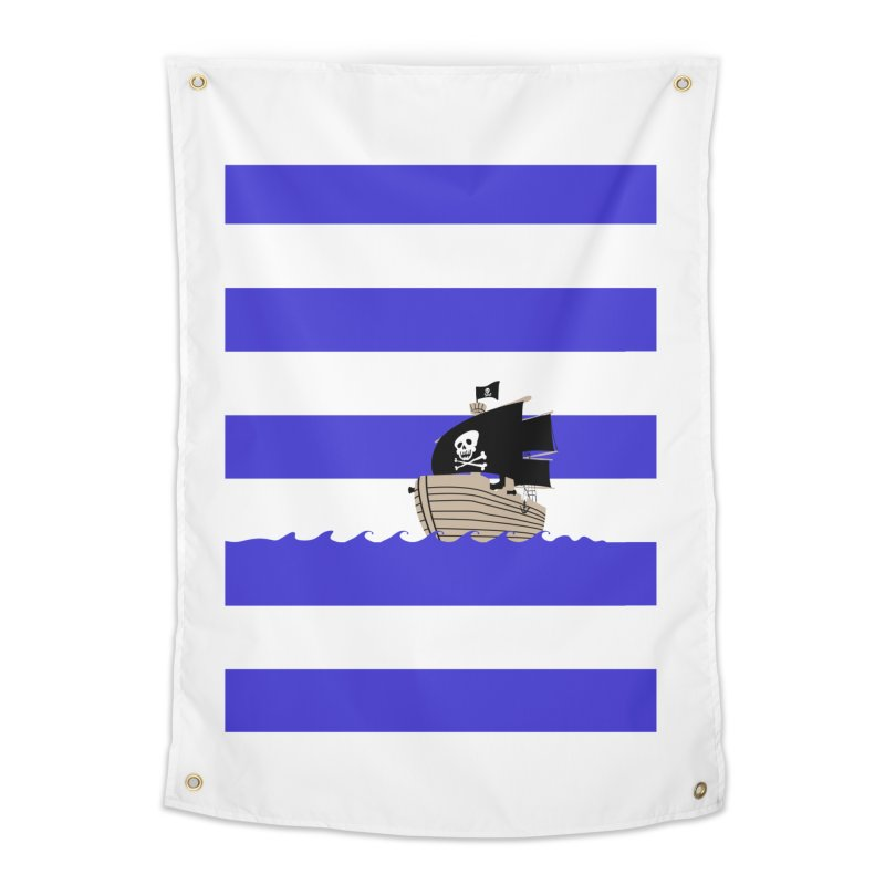 Striped pirate shirt Home Tapestry by Jonah Makes Art