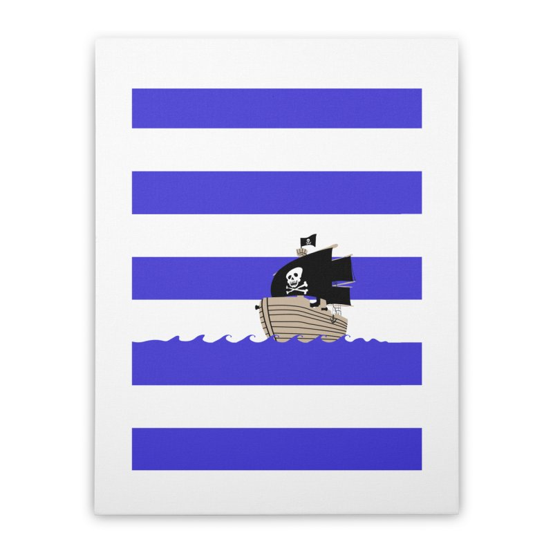 Striped pirate shirt Home Stretched Canvas by Jonah Makes Art