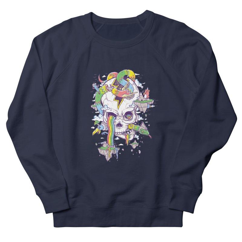 Flying Rainbow Skull Island  Women's Sweatshirt by Jonah Makes Art