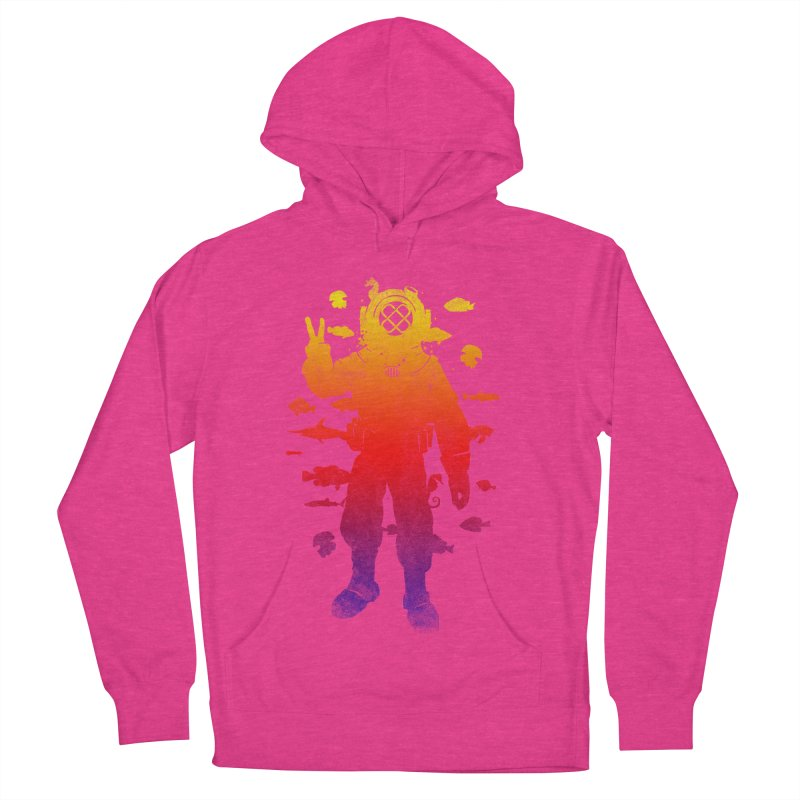 Peace Diver Men's Pullover Hoody by Jonah Makes Art