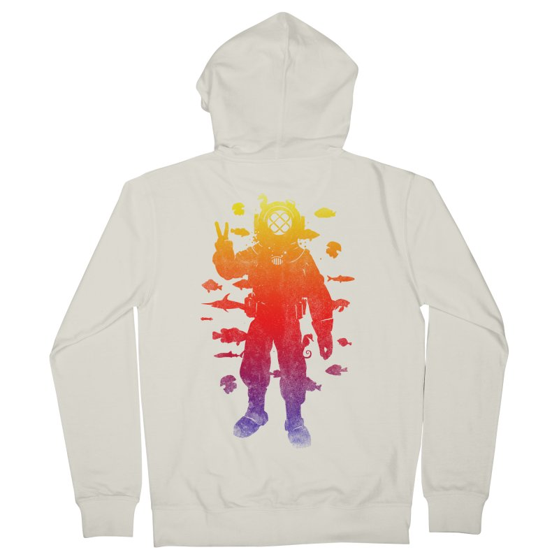 Peace Diver Women's Zip-Up Hoody by Jonah Makes Art