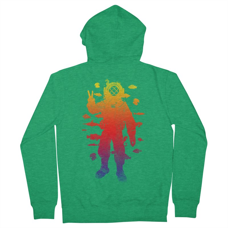 Peace Diver Men's Zip-Up Hoody by Jonah Makes Art