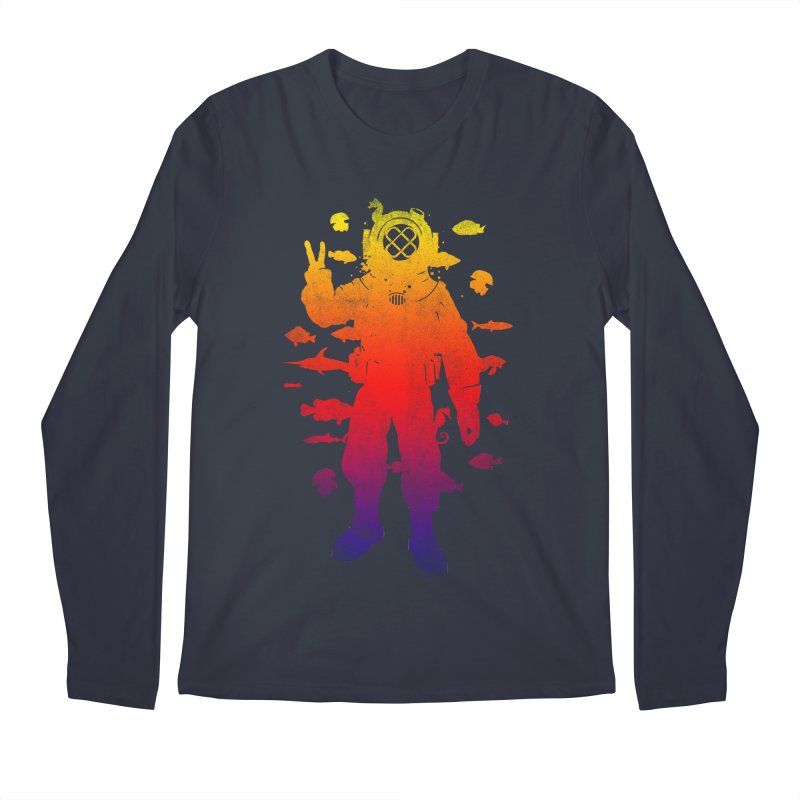 Peace Diver Men's Longsleeve T-Shirt by Jonah Makes Art