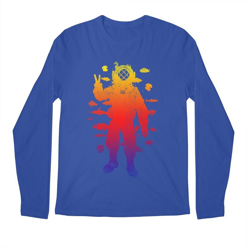Peace Diver Men's Longsleeve T-Shirt by Jonah Makes Art