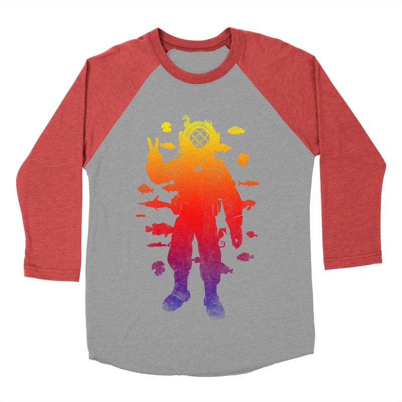 Peace Diver Women's Baseball Triblend T-Shirt by Jonah Makes Art