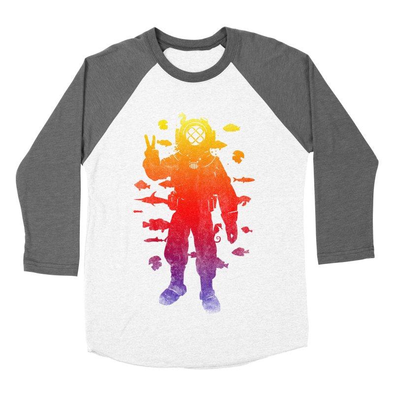 Peace Diver Men's Baseball Triblend T-Shirt by Jonah Makes Art