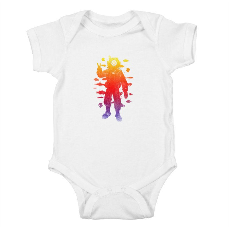 Peace Diver Kids Baby Bodysuit by Jonah Makes Art