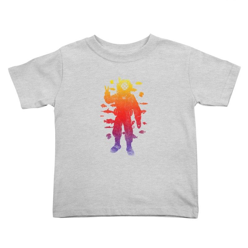 Peace Diver Kids Toddler T-Shirt by Jonah Makes Art