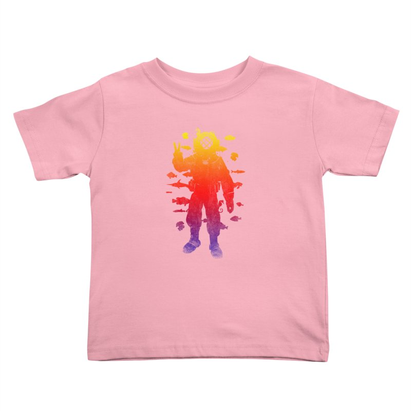 Peace Diver Kids Toddler T-Shirt by Jonah Makes Art